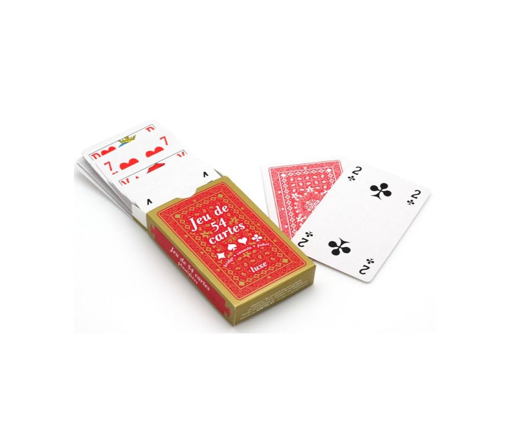 Jeu 54 cartes classique figures françaises