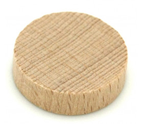Jeton naturel 25x7 mm en bois rond pour jeux