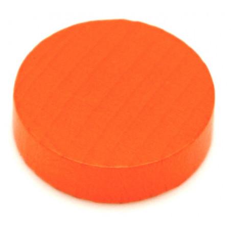 Jeton 25x7 mm en bois rond pour jeux
