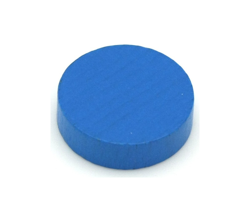 Pion palet  bleu 2.1 cm en bois pour jeu 21 x 7 mm