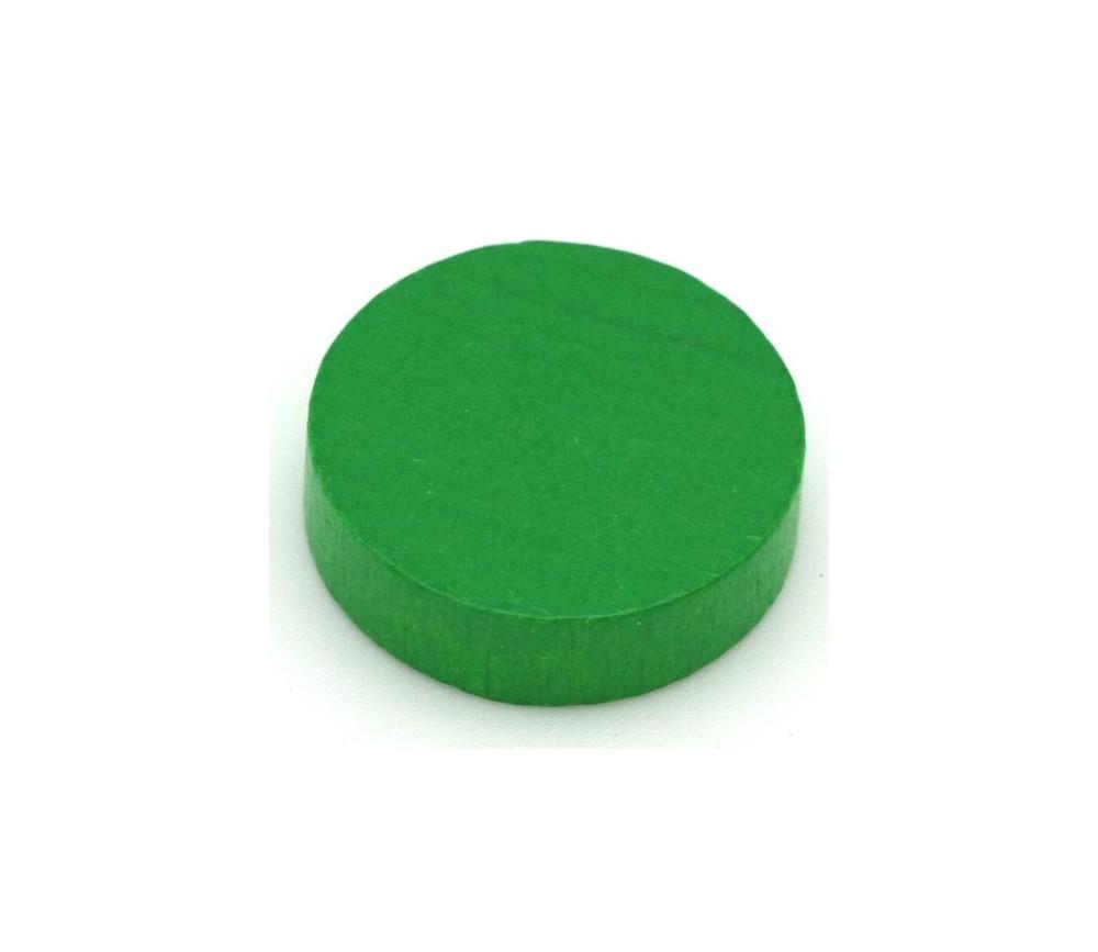 Pion palet  vert 2.1 cm en bois pour jeu 21 x 7 mm