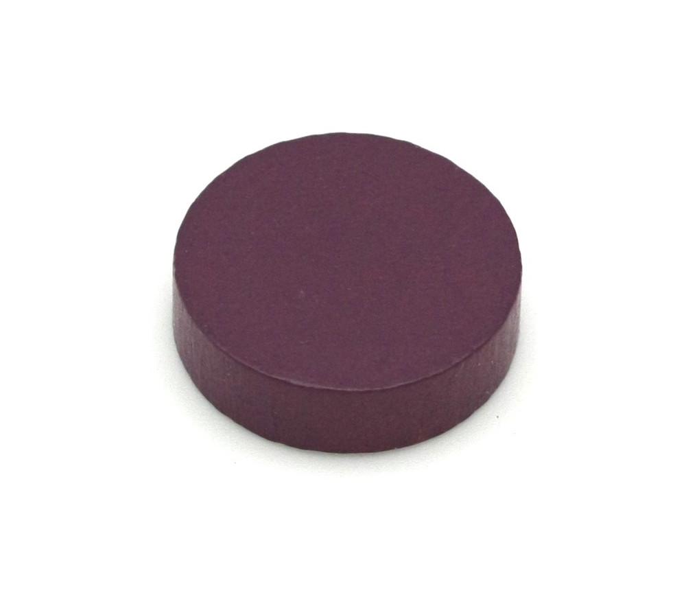 Pion palet  violet 2.1 cm en bois pour jeu 21 x 7 mm