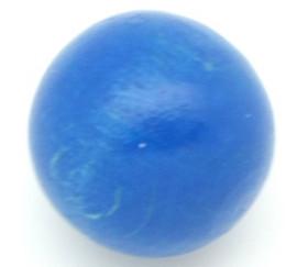 Boule 20 mm bleue bois hêtre