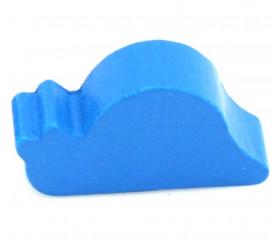 Pion escargot bleu bois 30 x17 x 8 mm