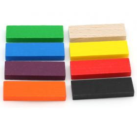 Jeton bois grand rectangle pour jeux 54 x 16 x 7 mm