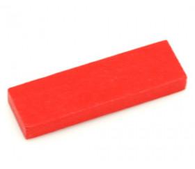 Jeton bois grand rectangle rouge pour jeux 54 x 16 x 7 mm