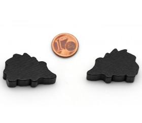 Pion de jeu hérisson noir en bois 30x18x8 mm