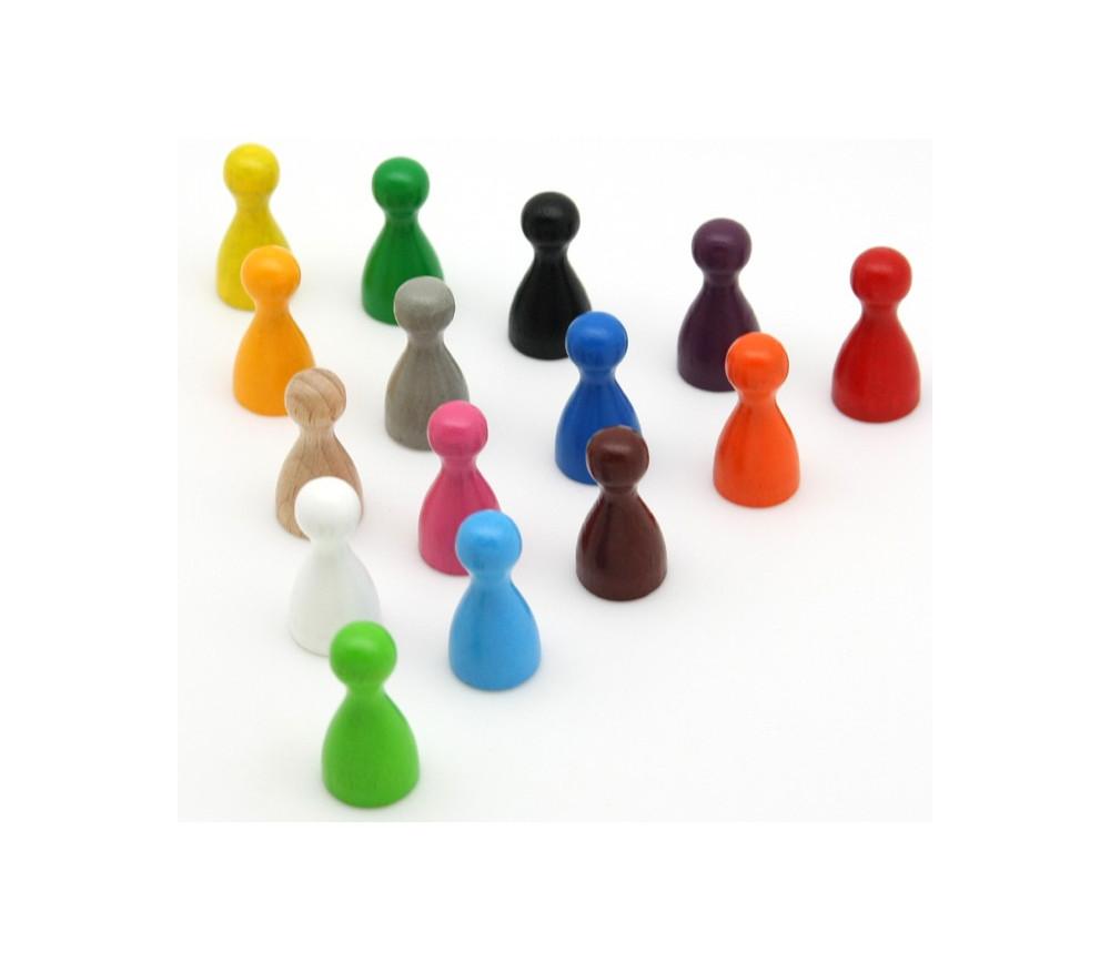 Pion coloré en bois small 12 x 24 mm
