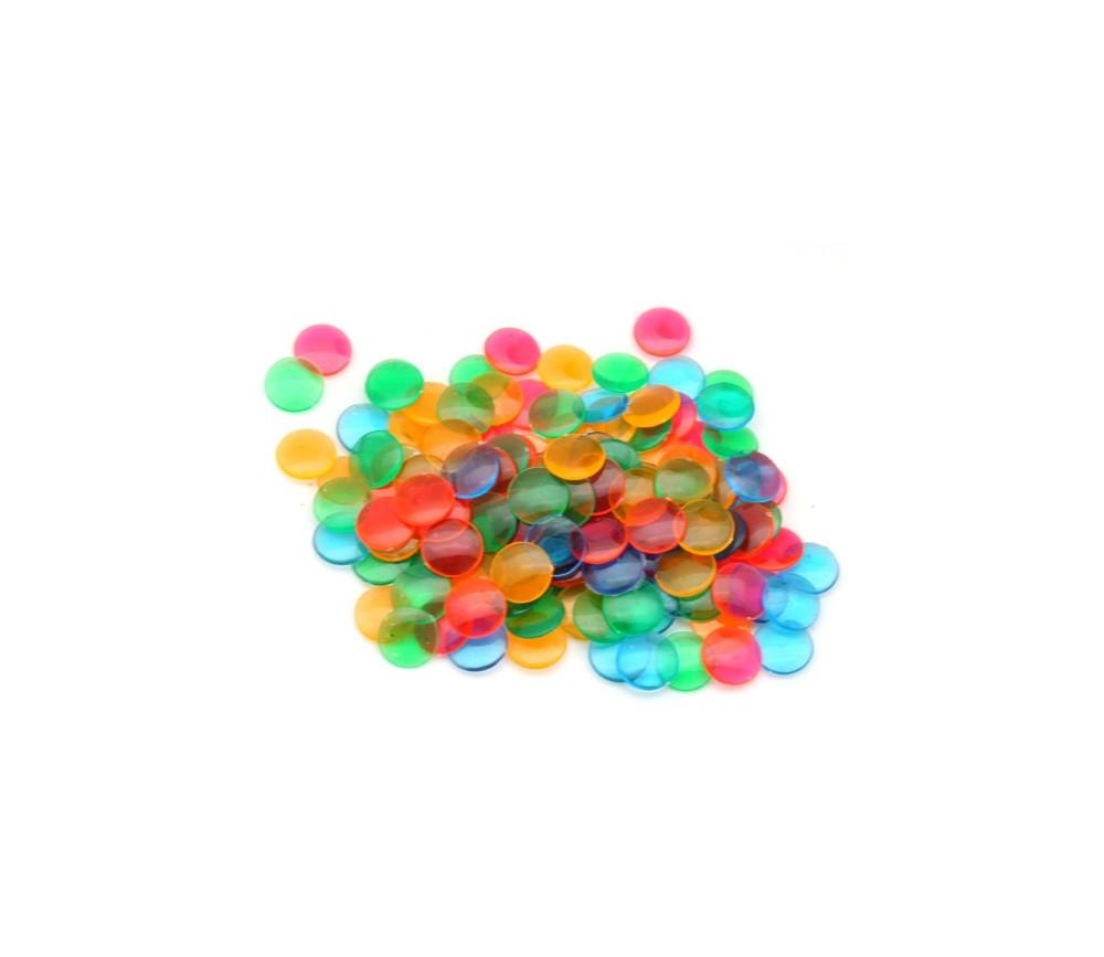 5000 mini jetons loto pas chers transparents color s 1 cm. Black Bedroom Furniture Sets. Home Design Ideas
