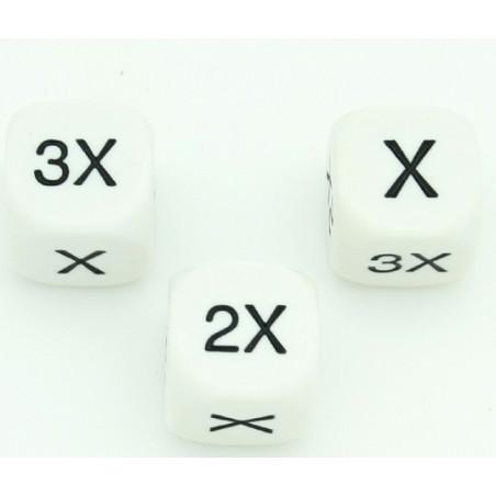 Dé multiplier X 2X 3X  X 2X 3X