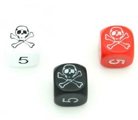 Dé tête de mort Pirate 16 mm