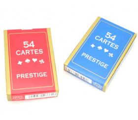 Jeu 54 cartes françaises Prestige