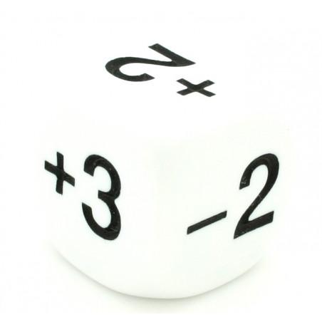 Dé avec points -1+2-2+4+3+5 de 22 mm