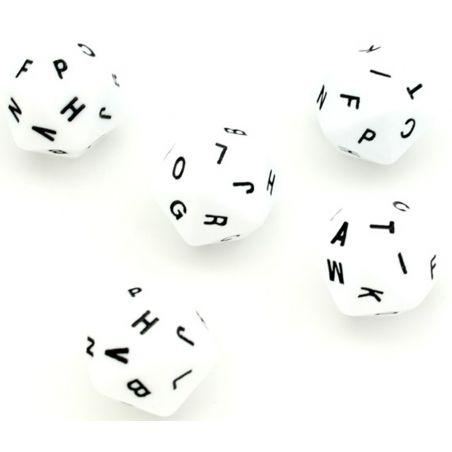 Dés lettres alphabet avec 20 faces