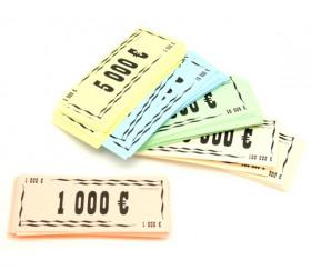 liasse 200 billets de jeux euros 10.5 x 4.5 cm