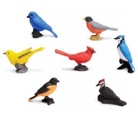 Figurines oiseaux - 7 animaux dans un tube