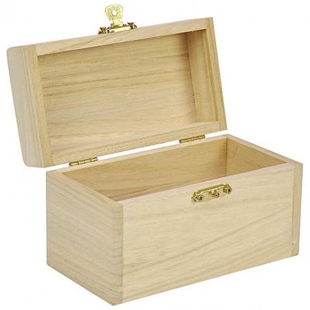 Coffret bois 13x8x7 cm charnières pour accessoires de jeux