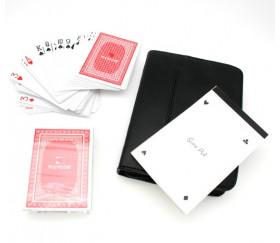 Etui pour cartes à jouer avec bloc note et crayon