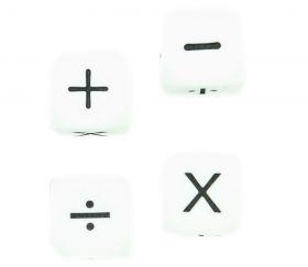 Dé signe Mathématiques + - x %