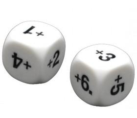 Dé additionner +1 +2 +3 +4 +5 +6