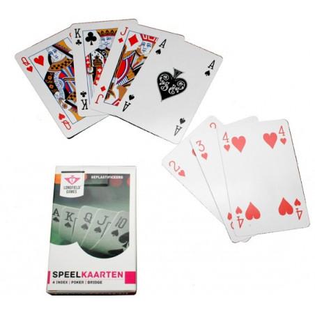 Jeu de 54 cartes à jouer classiques belote, bridge, rami
