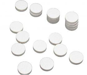 Pions jetons bois blanc 15 x 4 mm lot 20 pour jeux