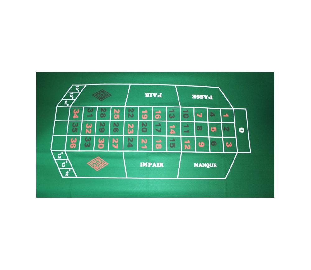 Tapis de jeu pour roulette