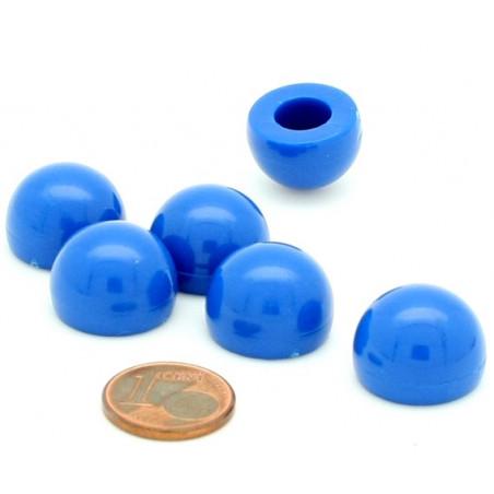 pion dome de jeu 12x15 mm demi boule plastique bleu