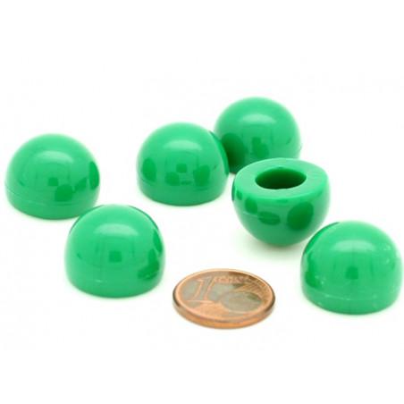 pion dome de jeu 12x15 mm demi boule plastique vert