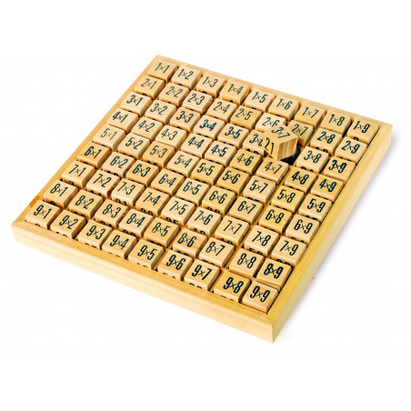 Multiplication - table de calcul bois