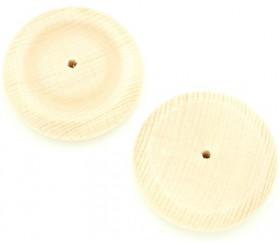 Palet bois roue de 6 cm troué - 60 x 4 mm trou de 15 mm