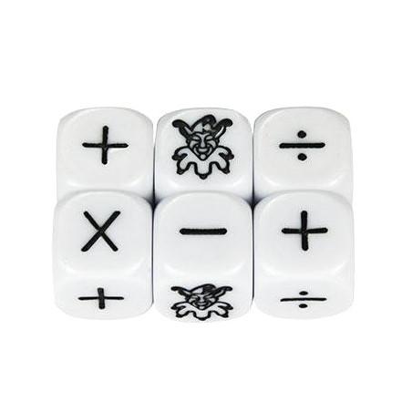 Dé + - x ÷ joker signes mathématiques
