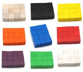 12 Cubes en bois 2 cm. 20 x 20 x 20 mm