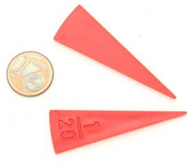20 Portions 1/20 jetons plastiques fractions