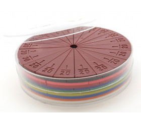 71 parts fractions 10 ronds de 10 cm plastique