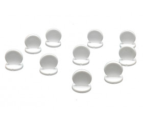 Pions ronds à personnaliser lot de 10 supports blancs 15 x 17 mm