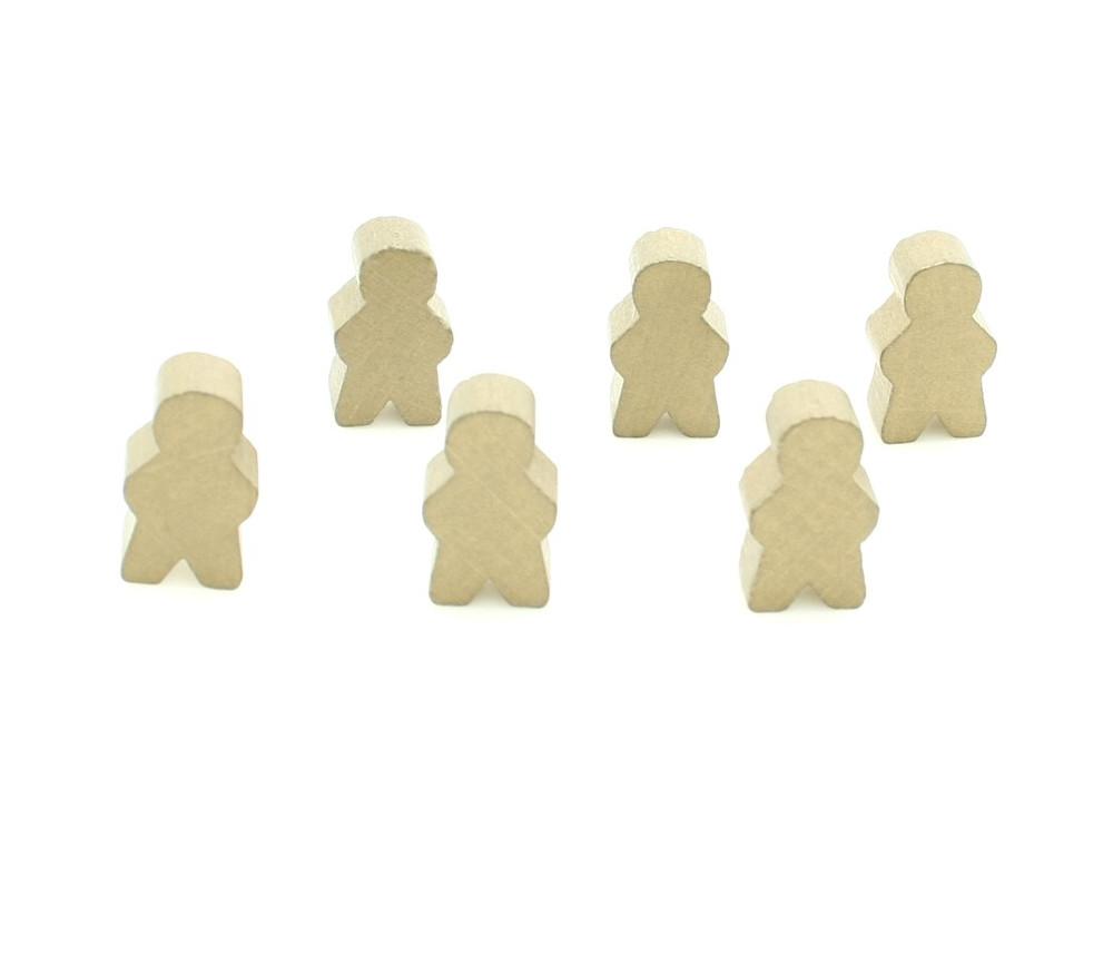 Pions personnage doré en bois bonhomme meeple