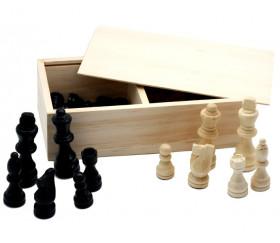32 Pièces jeu d'échecs bois coffret en bois standard