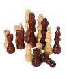 Pièces géantes pour jeu échec en bois