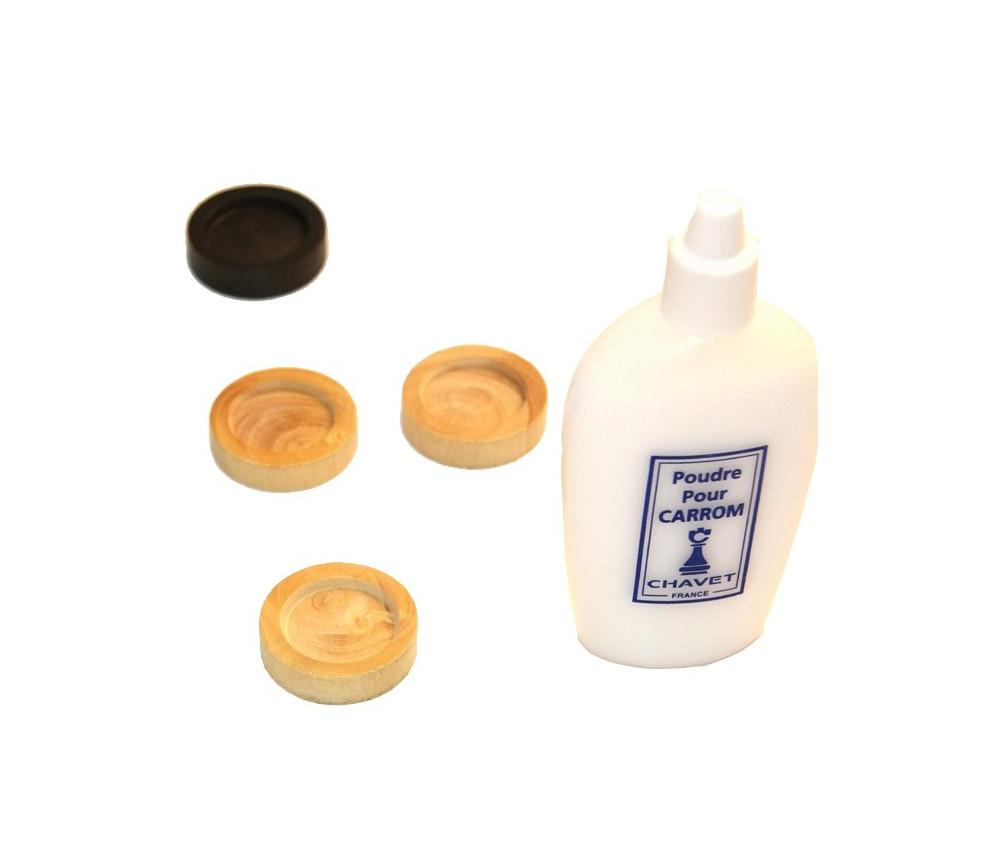 Flacon 50 g poudre de glisse pour carrom ou carambole