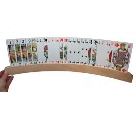 Porte-cartes à jouer arrondi en bois de 48 cm