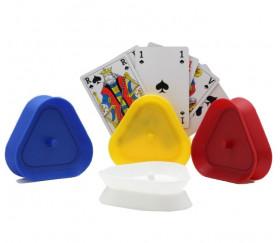 Porte carte plastique triangulaire pour cartes à jouer