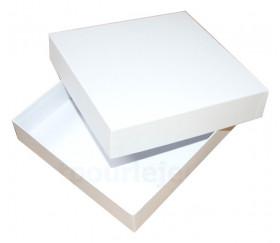 Boite jeu carré blanche à personnaliser vide rigide avec couvercle