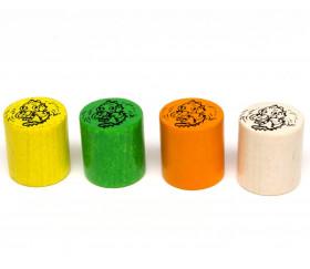 cylindre dragon en bois 19x21 mm pion de jeu