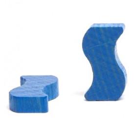 Jeton vague bleue 20 x 10 x 4 mm