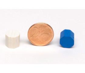 Mini octogones 10x10 mm en bois coloré pour jeu