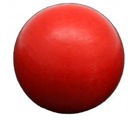 Boule bois couleur rouge 50 mm diamètre bille hetre