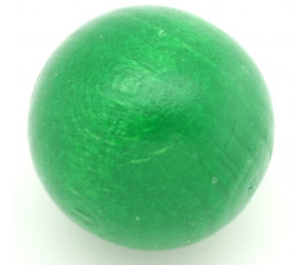 Boule bois verte 50 mm diamètre bille hetre
