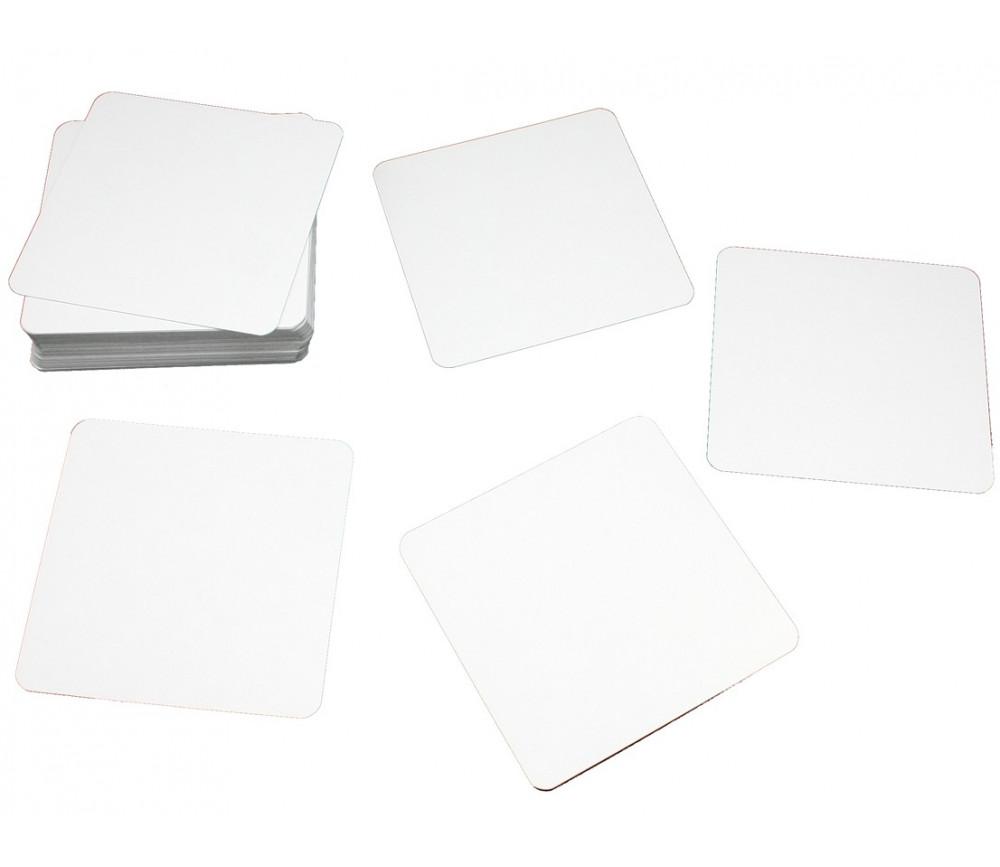 30 cartes carrés 70x70 mm blancs à personnaliser