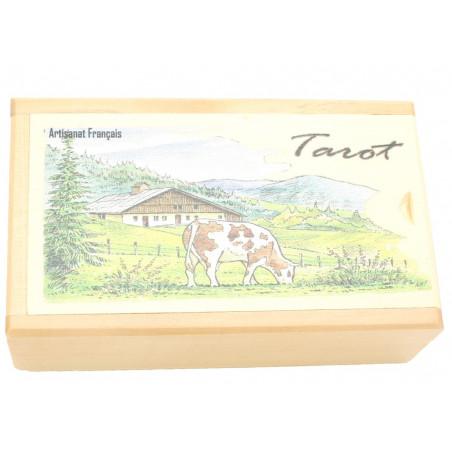 Boite bois pour jeu de tarot